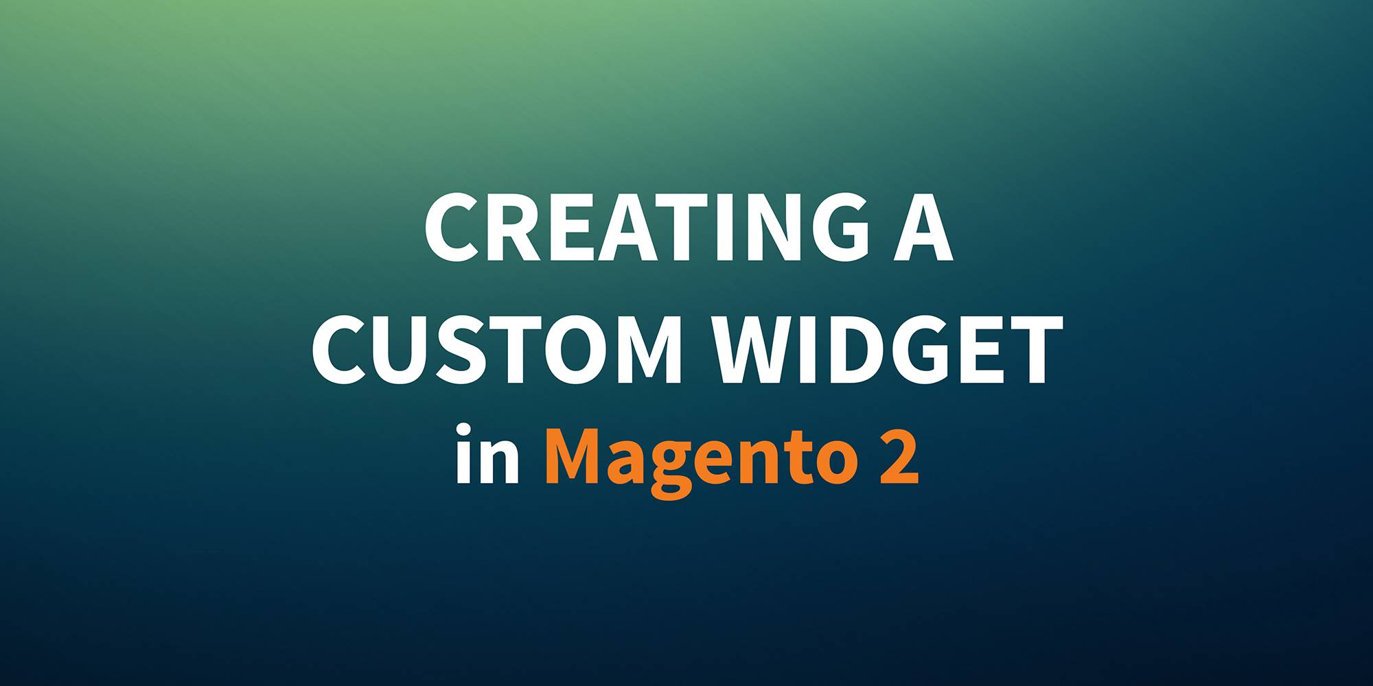 classyllama: New post up on the blog! 'Creating a Custom Widget in Magento 2' nnCheck it out: https://t.co/sFK0pyQKNN #realMagento #MagentoImagine