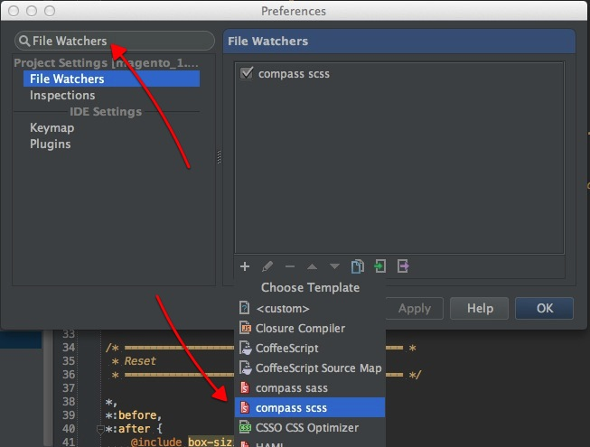 PhpStorm File Watcher Creation