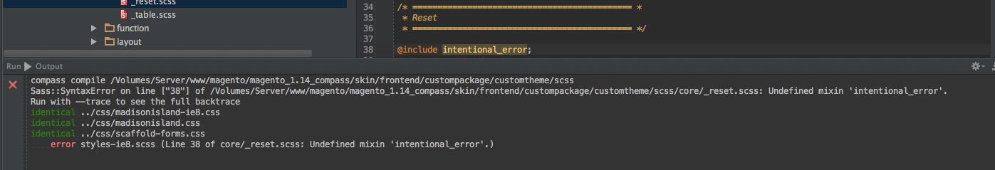 PhpStorm File Watcher Error