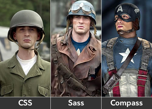 CSS vs Sass vs Compass - Captain America Style